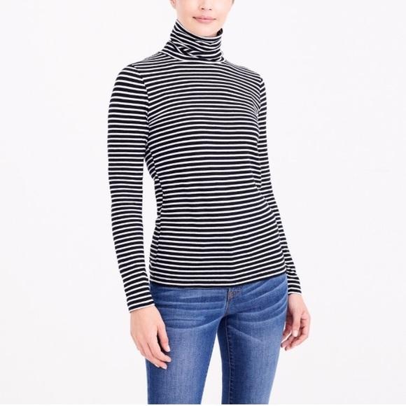 d4852212662 J. Crew Factory Tops - J Crew Tissue Striped Turtleneck Shirt